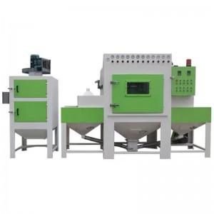 Sandblasting machine for metal plates