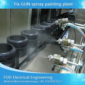 Full Automatic spray painting sa produksyon sa tanom alang sa UV, PU pintal spraying