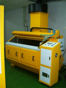 Painting machine for glasses frame