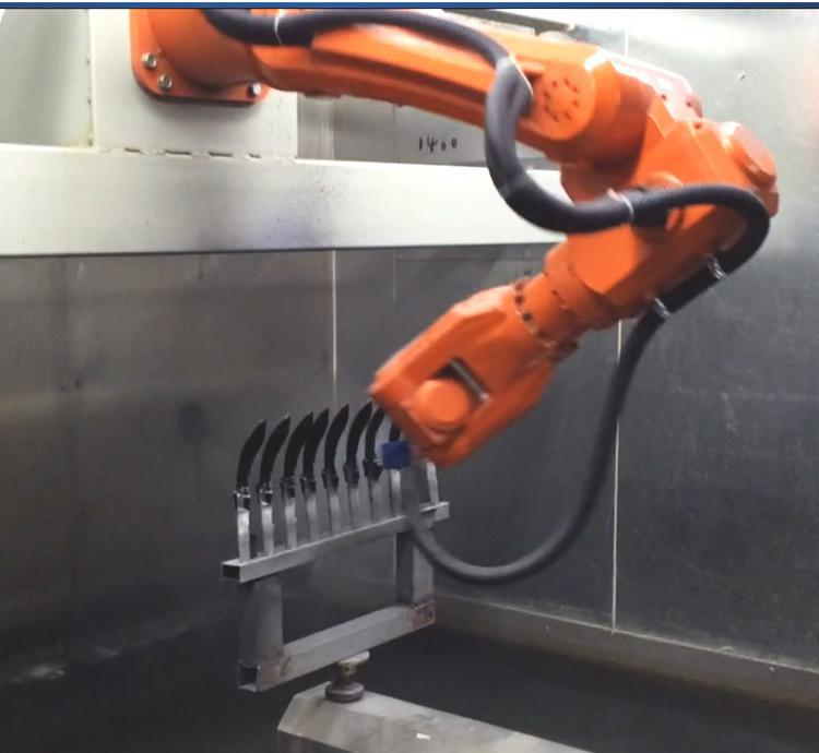Robot Automatic painting production line for car parts Featured Image