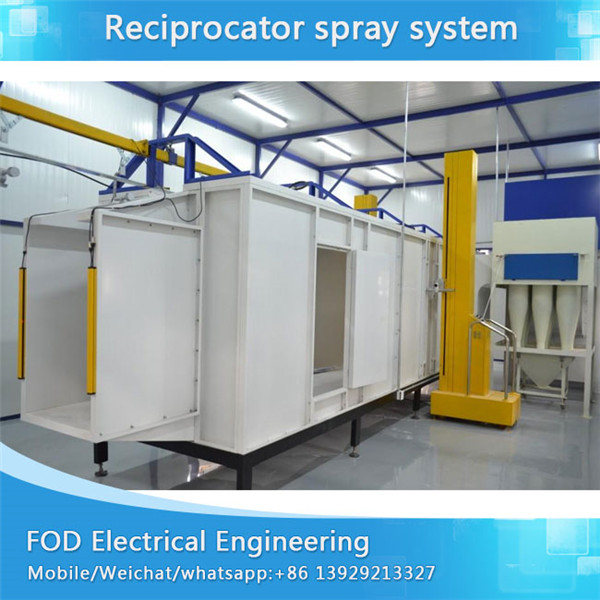 Electrostatic powder coating system for motorcycle