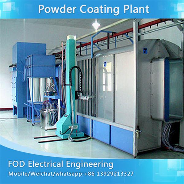 Electrostatic powder coating system for motorcycle