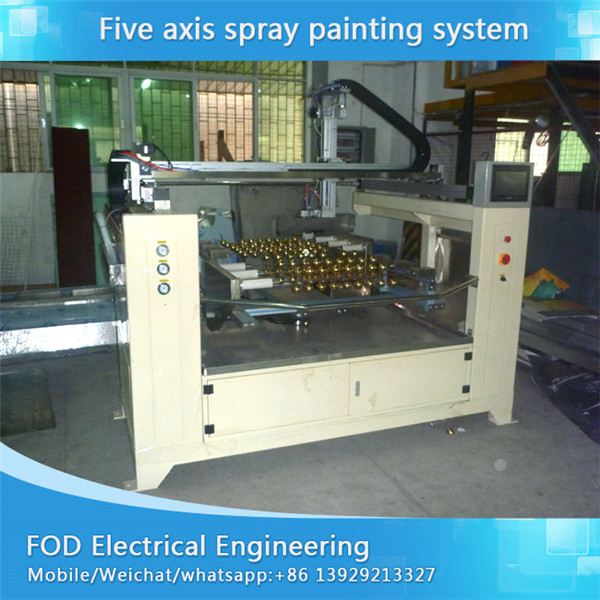 Five Axis reciprocating spray painting sytem for car part
