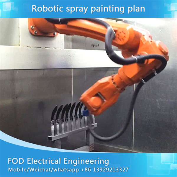 OU رنگ لاء پنج سال mainternance Robotic پيئڻ سازي ليڪ، UV رنگ spraying