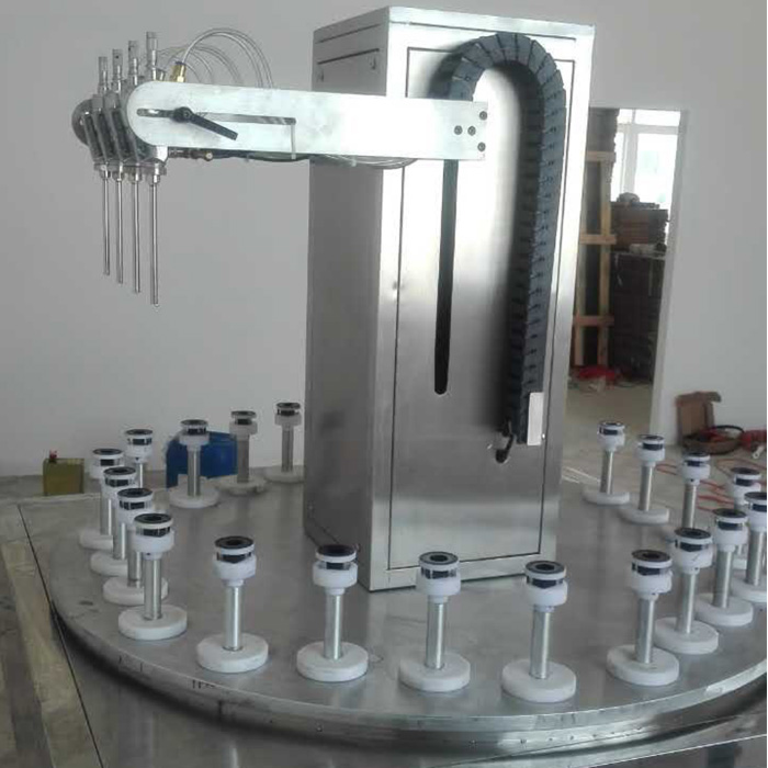 Inner spray paint machine for bootle