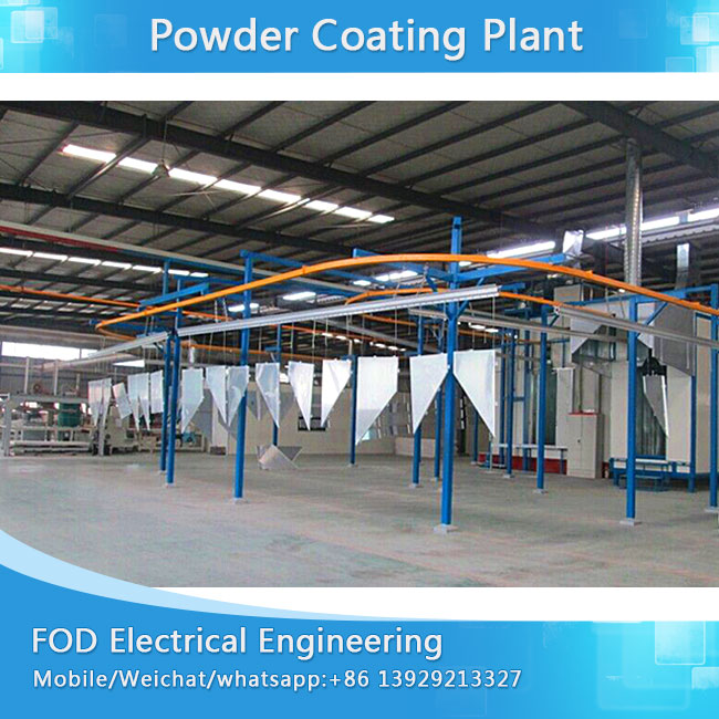 Manual powder coating plant for motorcycle