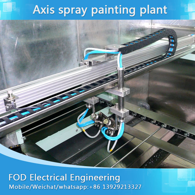 On-line track Five axis Automatic painting line for wood panel board