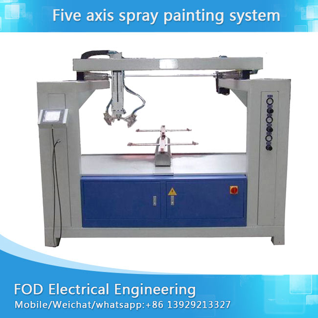 Oversea installation free Five Axis reciprocating spray painting machine with 2 disc/4 disc