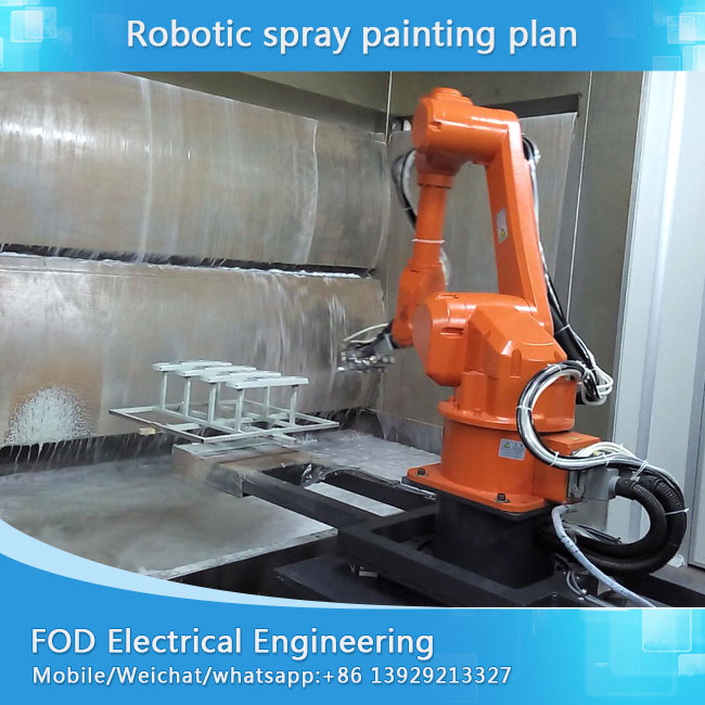 Oversea instalar free robot spray painting linya alang sa OU pintal, UV pintal spraying